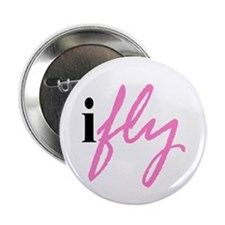 I Fly (pink) Button