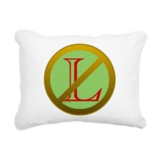 No L Rectangular Canvas Pillow