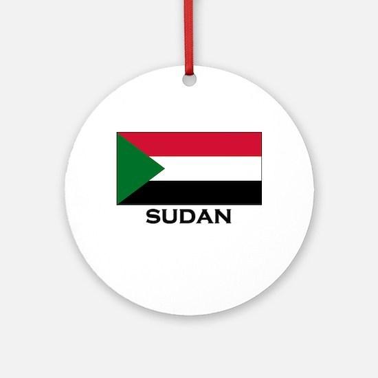Sudan Flag Stuff Ornament (Round)