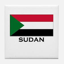 Sudan Flag Stuff Tile Coaster