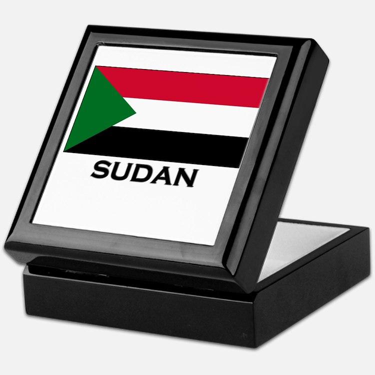Sudan Flag Stuff Keepsake Box
