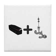 Coffin Bait Tile Coaster
