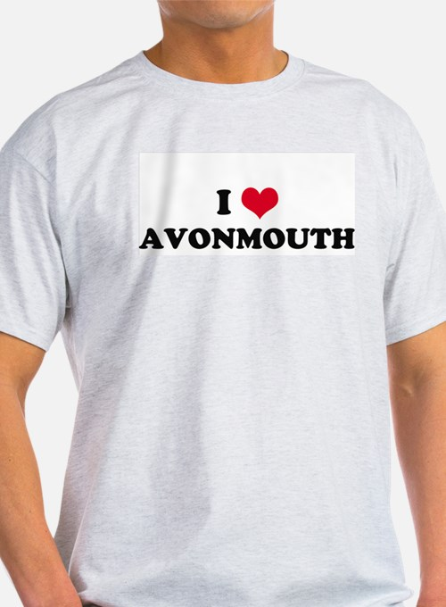 I HEART AVONMOUTH  Ash Grey T-Shirt