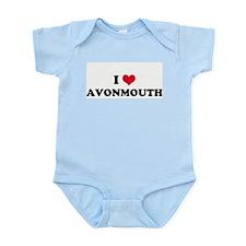 I HEART AVONMOUTH  Infant Creeper