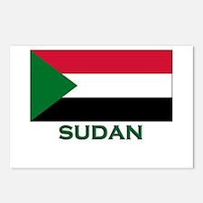 Sudan Flag Gear Postcards (Package of 8)