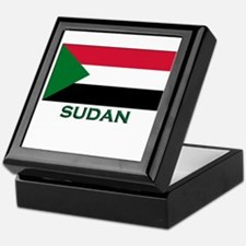 Sudan Flag Gear Keepsake Box