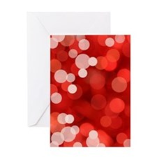 Red Sparkles Greeting Card