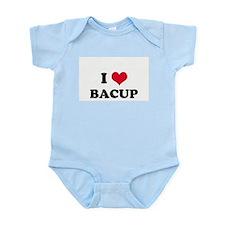 I HEART BACUP  Infant Creeper