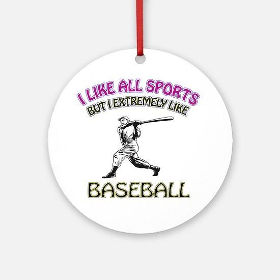 Baseball Design Ornament (Round)