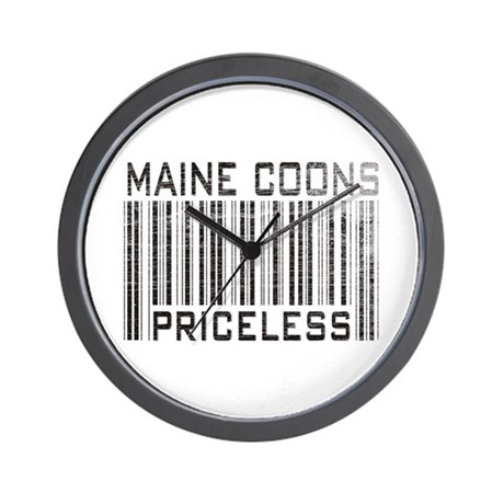 Maine Coons Priceless Wall Clock