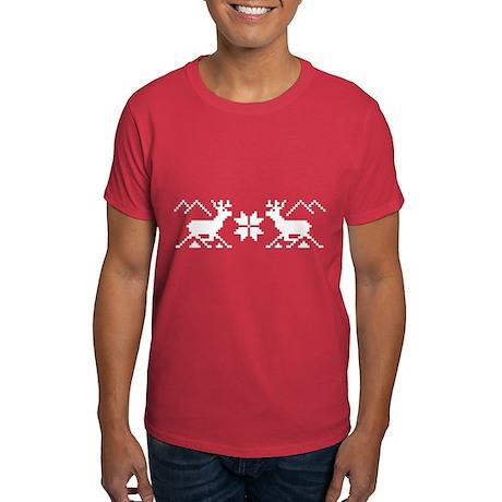 Traditional Xmas Reindeer Dark T-Shirt