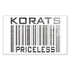 Korats Priceless Rectangle Decal