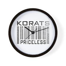 Korats Priceless Wall Clock