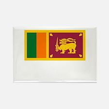 Sri Lanka Flag Picture Rectangle Magnet