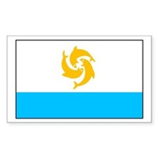 Anguilla Rectangle Decal