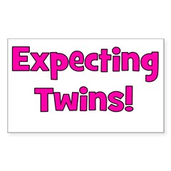 Expecting Twins! Rectangle Decal