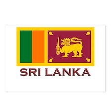 Sri Lanka Flag Stuff Postcards (Package of 8)