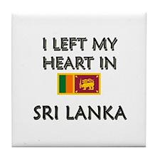 I Left My Heart In Sri Lanka Tile Coaster