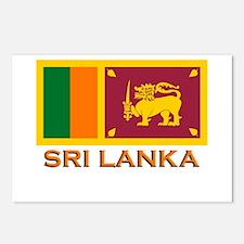 Sri Lanka Flag Merchandise Postcards (Package of 8