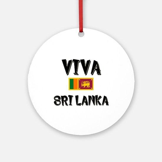 Viva Sri Lanka Ornament (Round)
