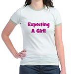 Expecting A Girl! Jr. Ringer T-Shirt
