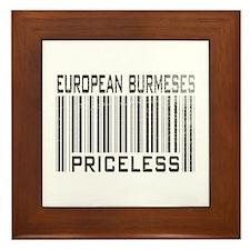 European Burmeses Priceless Framed Tile