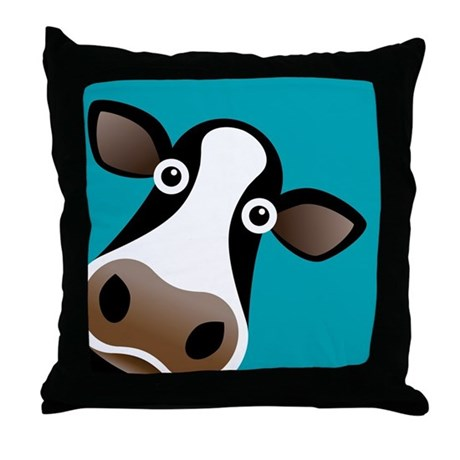Moo Cow! Throw Pillow