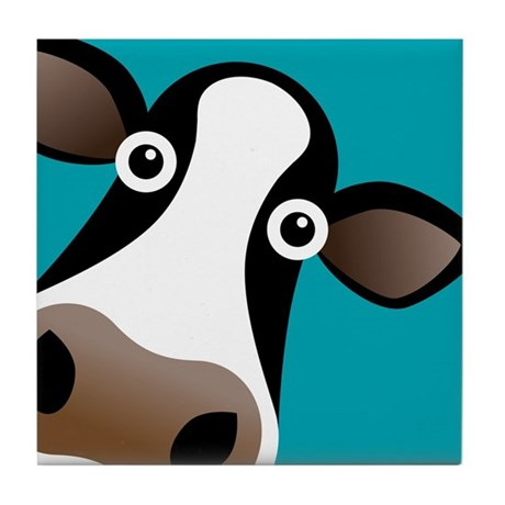 Moo Cow! Tile Coaster