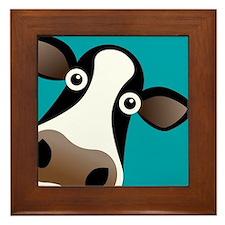 Moo Cow! Framed Tile