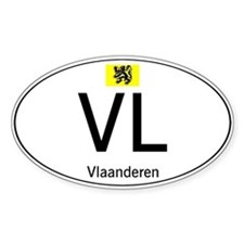 International country code Flanders White Decal
