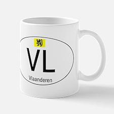 International country code Flanders White Mug