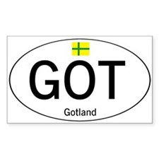 Car code Gotland Decal