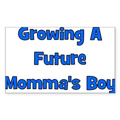 Growing A Future Momma's Boy Rectangle Sticker