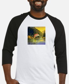 Rainbow Trout Jumping Baseball Jersey
