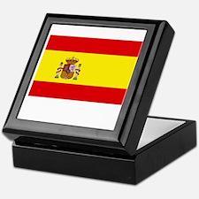 Spain Flag Picture Keepsake Box