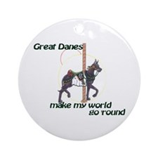 Carousel Blue World Ornament (Round)