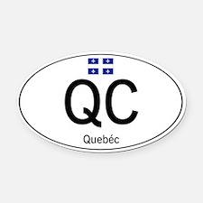 Car code Quebec Oval Car Magnet