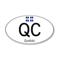 Car code Quebec Wall Decal
