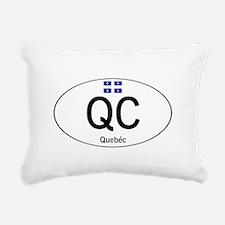 Car code Quebec Rectangular Canvas Pillow