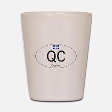 Car code Quebec Shot Glass