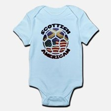 Scottish American Soccer Football Infant Bodysuit