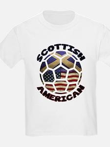 Scottish American Soccer Football T-Shirt