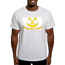 Halloween Trick Or Treat Jack Ash Grey T-Shirt