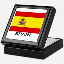 Spain Flag Gear Keepsake Box