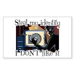 Identity Theft Rectangle Sticker