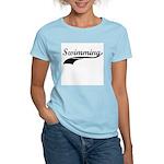 Retro Swimming Women's Pink T-Shirt