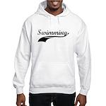 Retro Swimming Hooded Sweatshirt