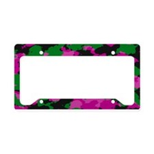 Pink Camouflage License Plate Holder
