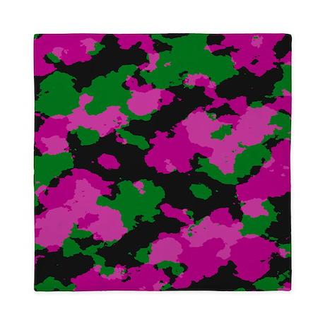 Pink Camouflage Queen Duvet