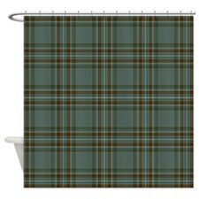 Kelly Tartan Celtic Shower Curtain